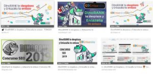 Concurso DinoRANK te desplaza y Enlazalia te enlaza