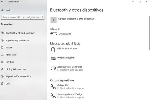 pasos para activar bluetooth windows 10