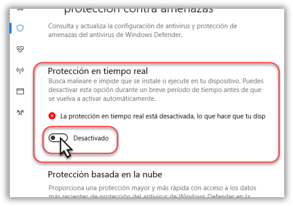 windows defender desactivar