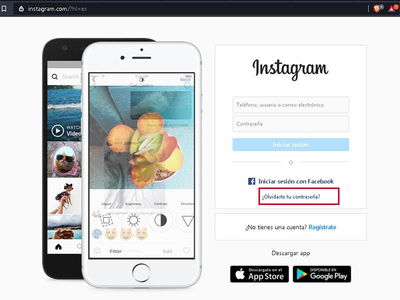 cómo cambiar clave de instagram