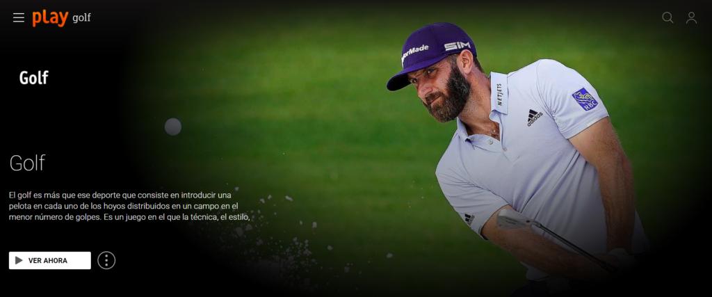 páginas para ver golf