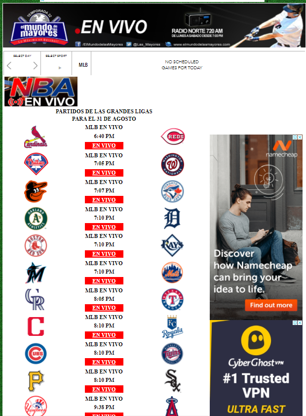 ver béisbol online gratis