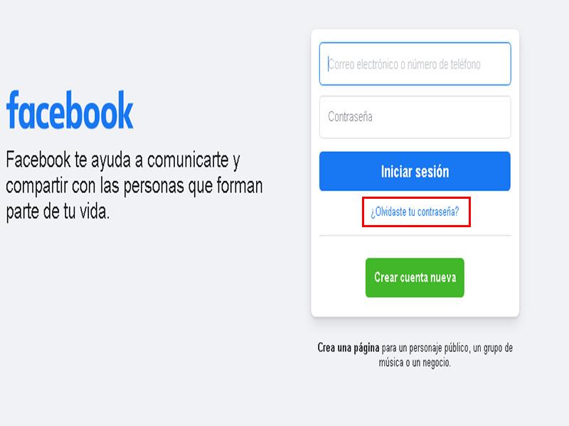cómo recuperar cuenta de facebook sin núumero