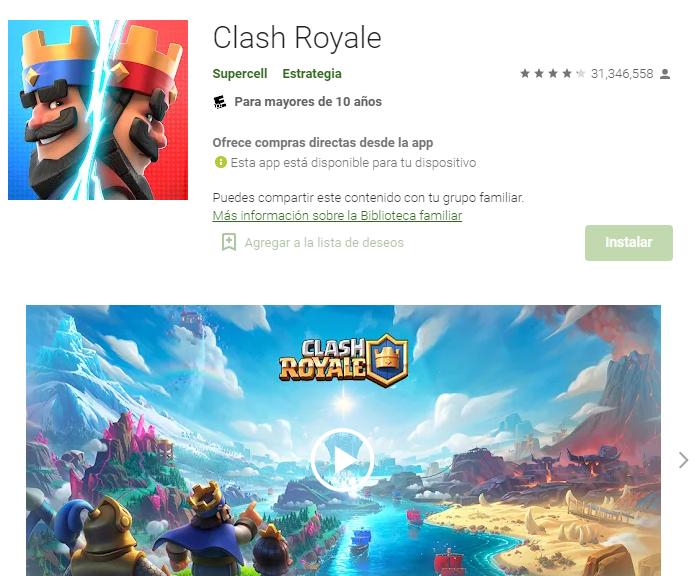 app clash of royale trucos