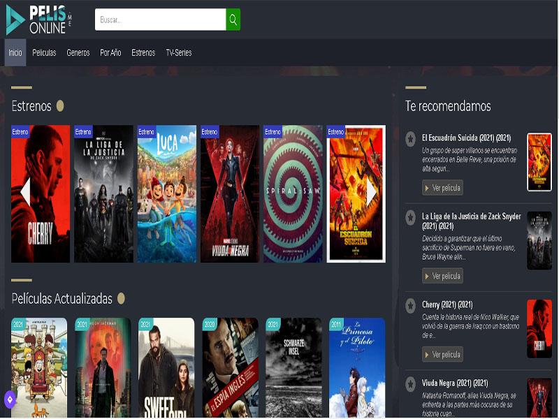 páginas para ver películas gratis y en español