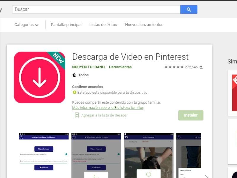 páginas para descargar vídeos pinterest