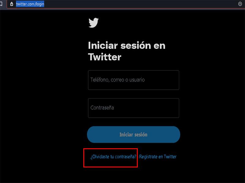 pasos para recuperar twitter sin clave