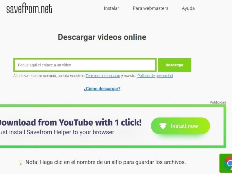 páginas para descargar vídeos de facebook